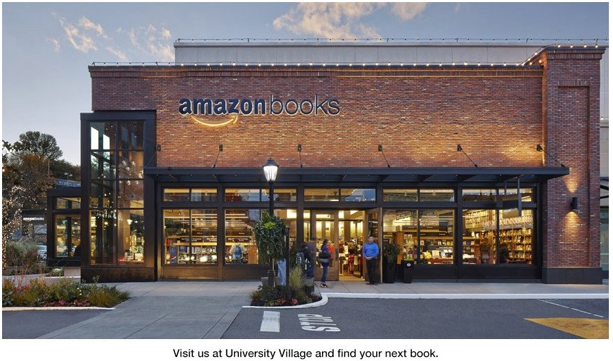 Amazon took brick-and-mortar quite literal for its first ever physical book store